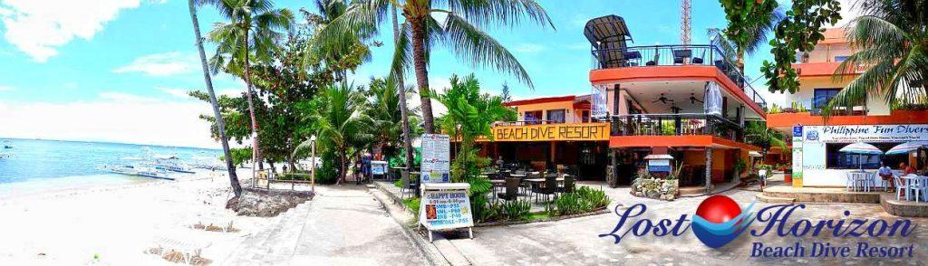 lost horizon beach dive resort